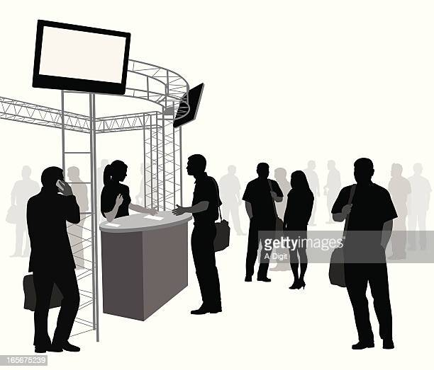 Answer Booth Vector Silhouette
