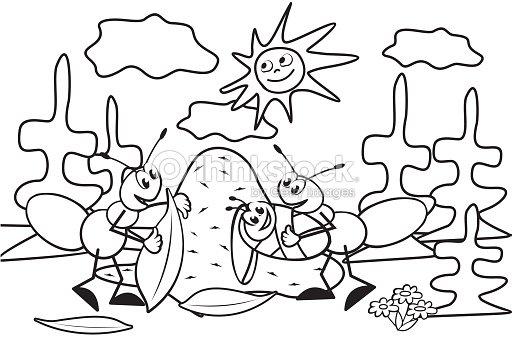 Hormiga Libro Para Colorear Arte vectorial | Thinkstock