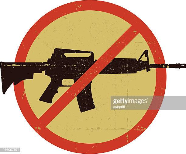 Anti Assault Weapon Symbol grunge