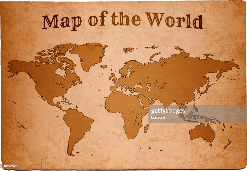 Antique royalty free vector world map on old paper vector art antique royalty free vector world map on old paper vector art sciox Images