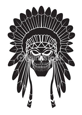 Apache Head Tattoo Vektorgrafik Thinkstock