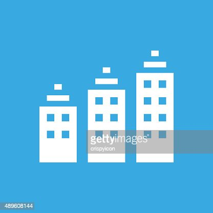 Apartment Building Icon On Color Buttons Style Series Vector Art