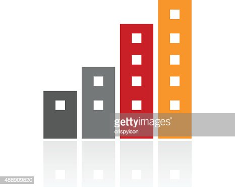 Apartment Building Icon On A White Background Vector Art Getty