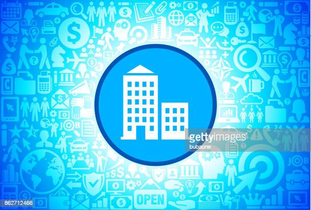 Apartment Building Icon on Business and Finance Vector Background