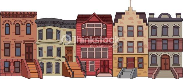 apartment building illustration vector art thinkstock. Black Bedroom Furniture Sets. Home Design Ideas