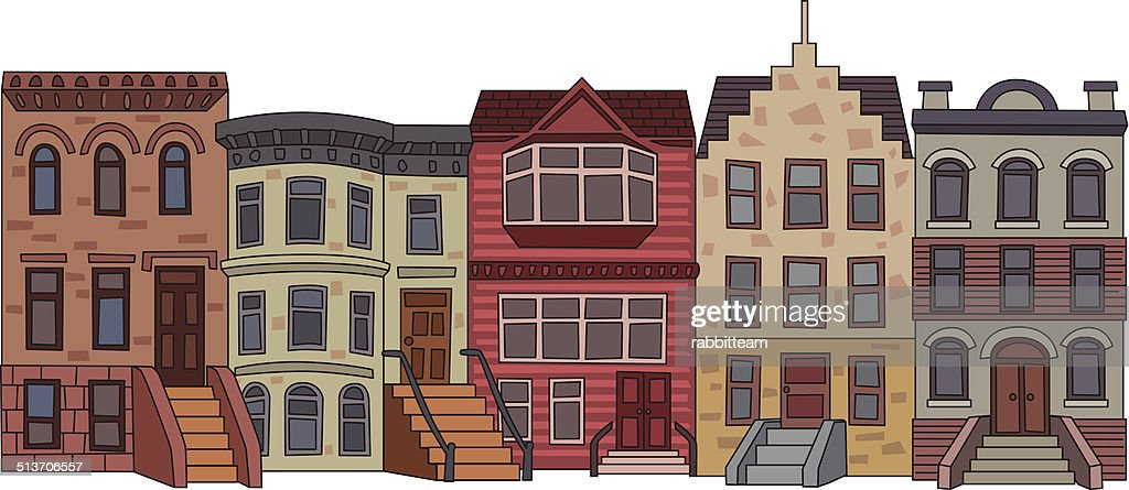 High Quality Apartment Building Illustration : Vector Art