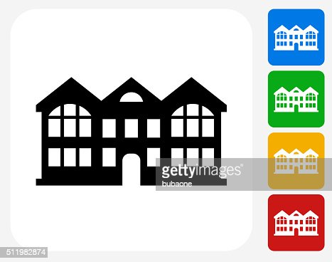 Apartment Building Graphic apartment buildings icon flat graphic design vector art | getty images