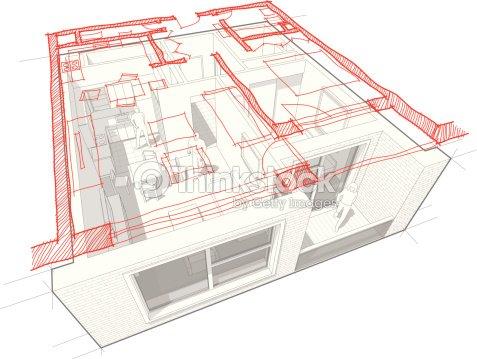 Apartment diagram with hand drawn floorplan diagram vector art apartment diagram with hand drawn floorplan diagram vector art ccuart Images