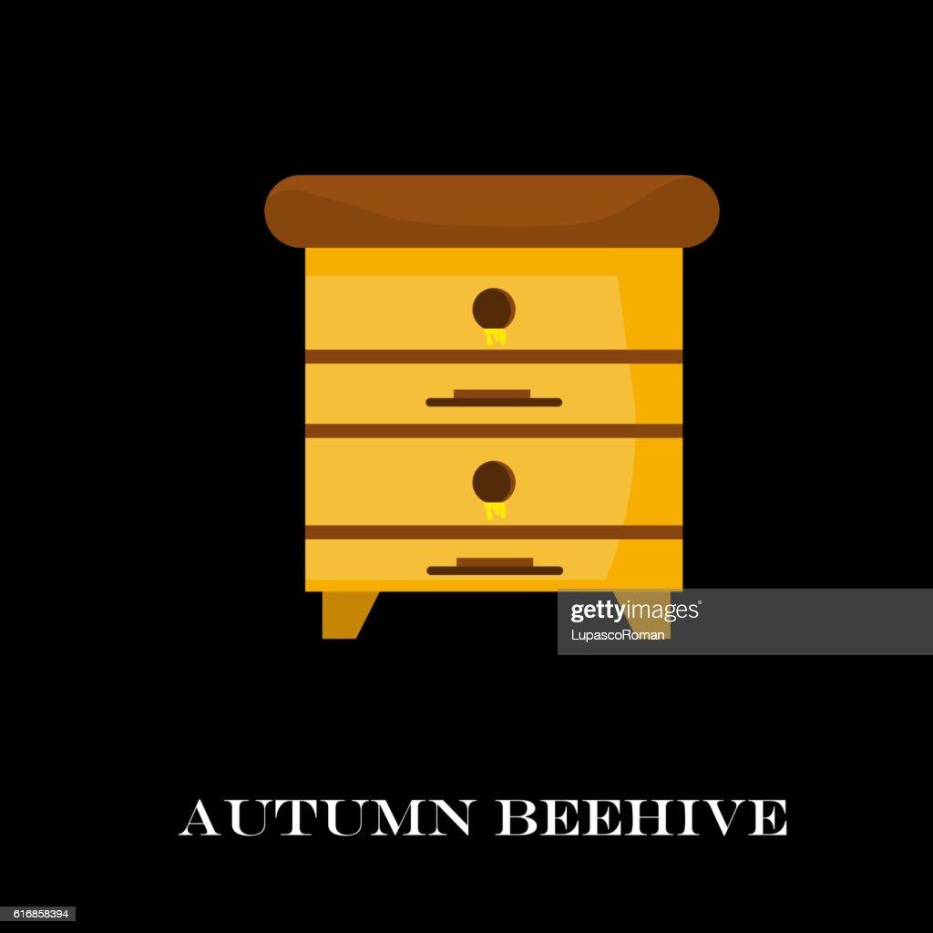 Apiary honey bee house  vector illustrations. , ,  , honeycomb. : Vector Art