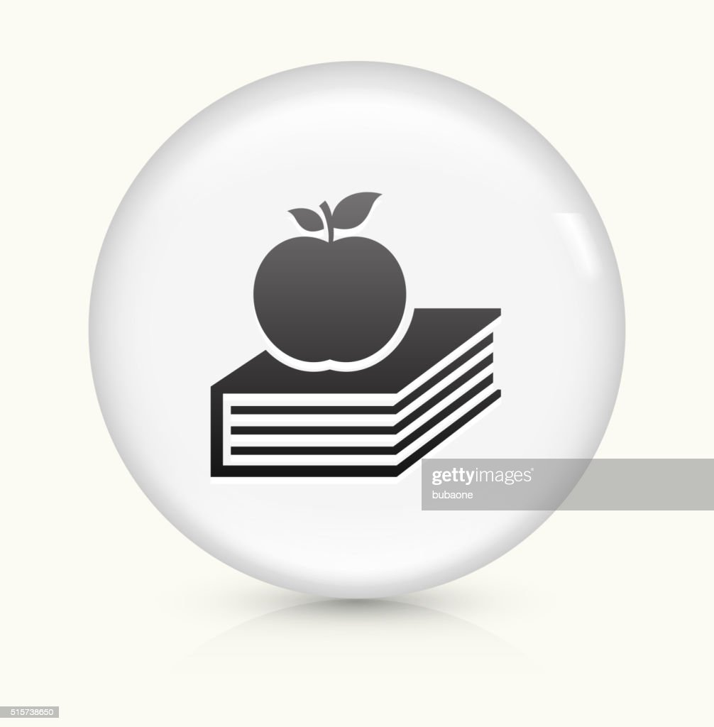 apple logo white vector. apple and book icon on white round vector button : art logo