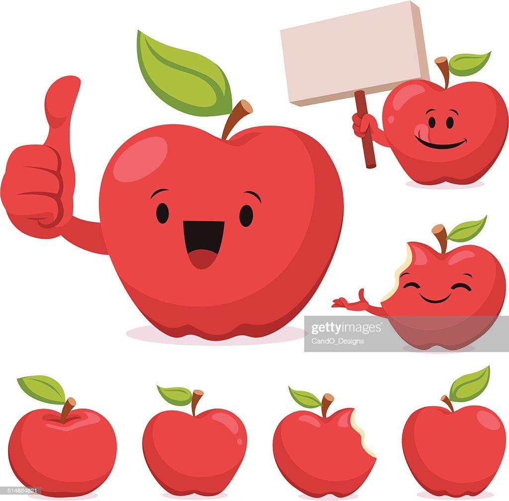apple cartoon set c vector art getty images