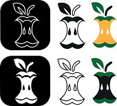 Image of various characters in form of apple.