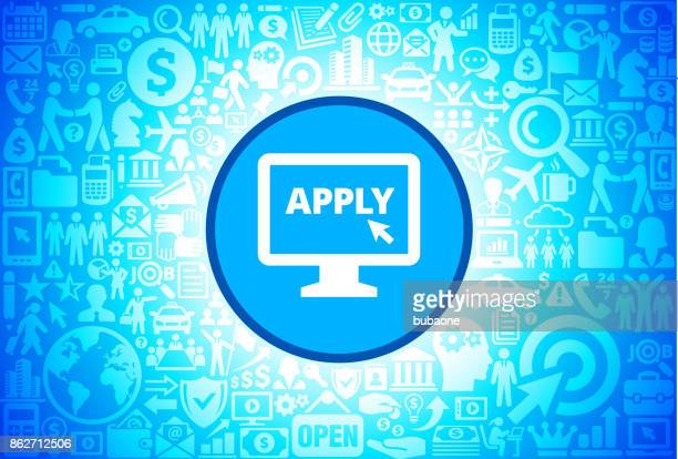 Application on Computer Icon on Business and Finance Vector Background