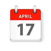 April 17 date visible on a page a day organizer calendar