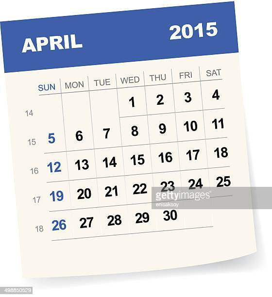 Kalender April 2015