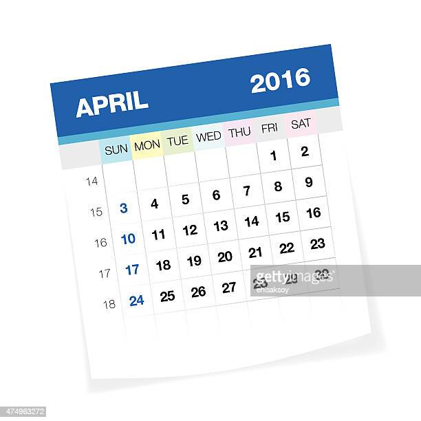Calendar April Vector : April stock illustrations and cartoons getty images