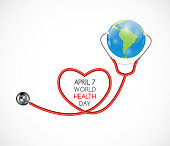 April 7, World Health Day Background. Vector Illustration EPS10