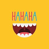 An image of a laughing mouth.