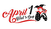 1, April fool's day, Typography, Colorful, vector illustration.