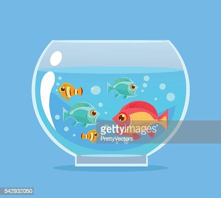 Aquarium Fish Vector Flat Cartoon Illustration Vector Art Thinkstock