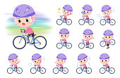 A set of Islamic girl on a road bike.There is an action that is enjoying.It's vector art so it's easy to edit.
