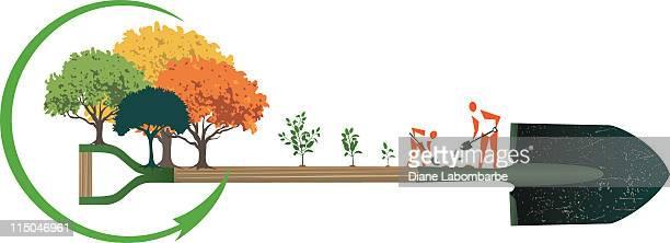 Arbor Day personnes de la plantation des arbres