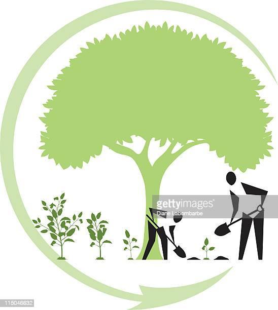 Arbor Day de la plantation des arbres