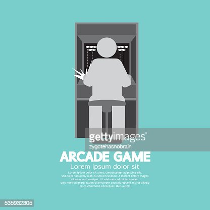 Arcade Machine Player Graphic Symbol : Vector Art