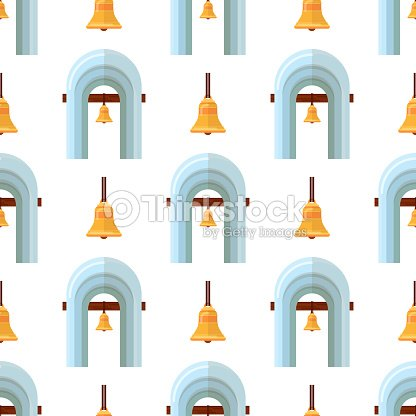 Arch design architecture construction frame seamless pattern background column gate door facade building construction vector illustration