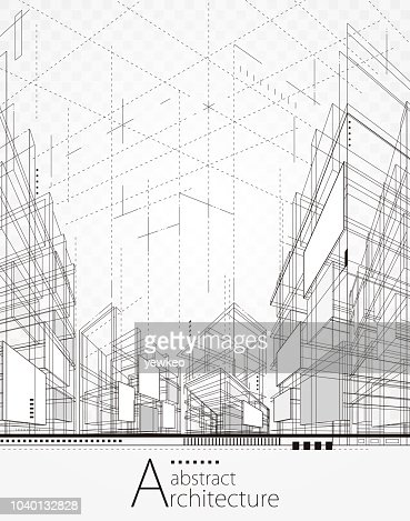 Architectural Abstract Background : Vector Art
