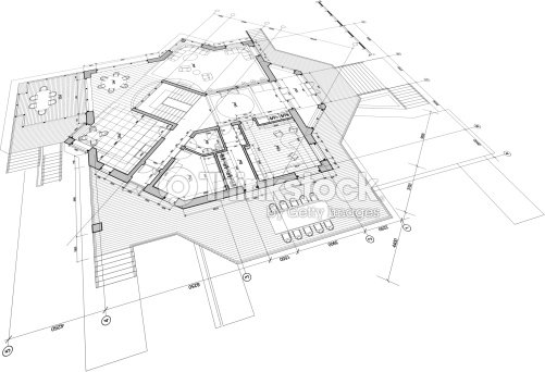 Architectural blueprint plan of the house vector art thinkstock architectural blueprint plan of the house vector art malvernweather Choice Image