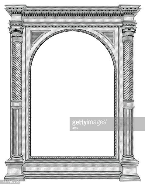 Architectural details of an arch