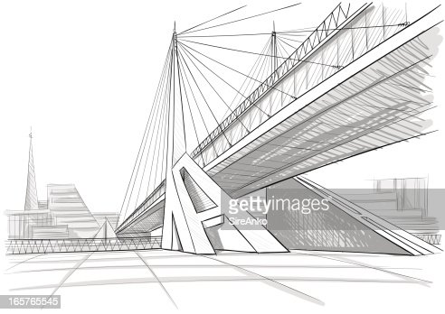 Architectural Drawing Of A Bridge Vector Art Getty Images