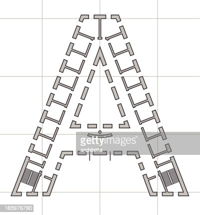 architectural plan of letter a vector art getty images