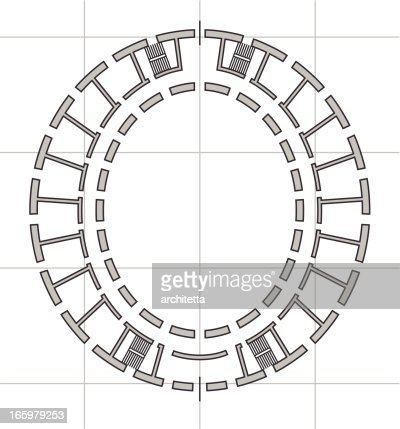 architectural plan of letter o vector art getty images