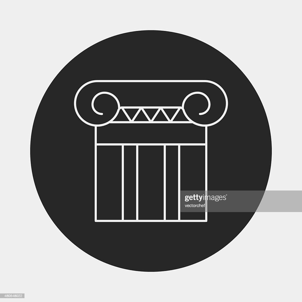 Architectural sculpture line icon : Vector Art