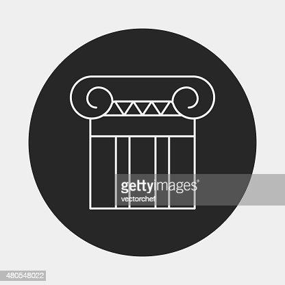 Escultura de iconos de edificios : Arte vectorial
