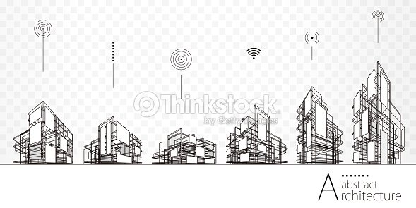 Architecture Abstract Buildings : stock vector