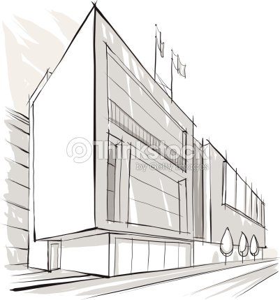 Architecture building sketch vector art thinkstock for Architektur grafik