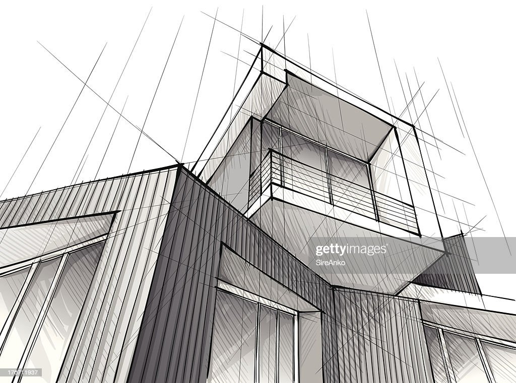 Buildign Black And White Architectural Drawings Black Printable