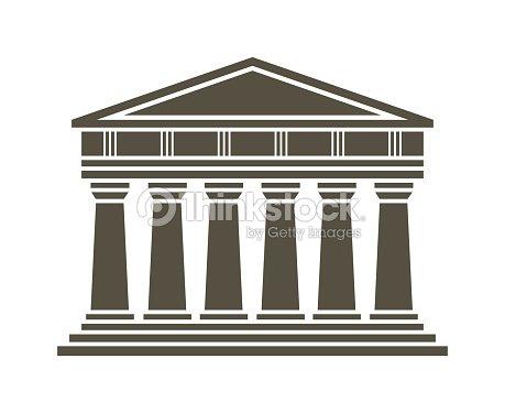 Architecture greek temple icon