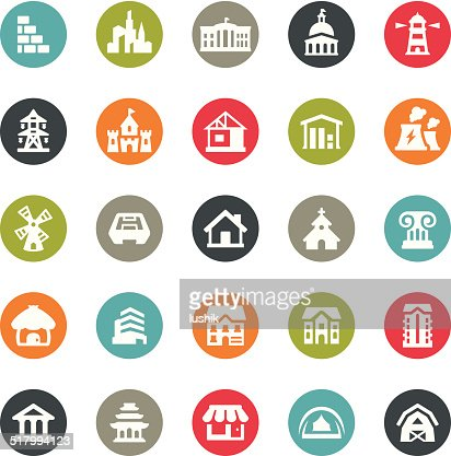 Architecture icons ringico series vector art getty images for Architecture icon