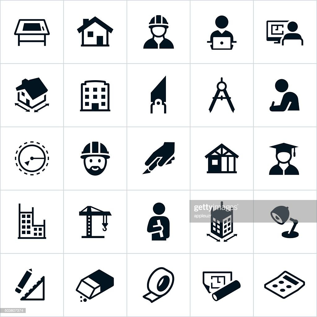 Free Architectural Design Software Architecture Icons Vector Art Getty Images