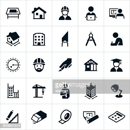 Architecture icons vector art getty images for Architecture icon