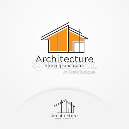 Architecture logo design : stock vector