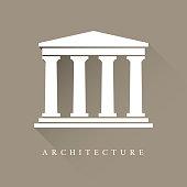 Architecture greek building symbol