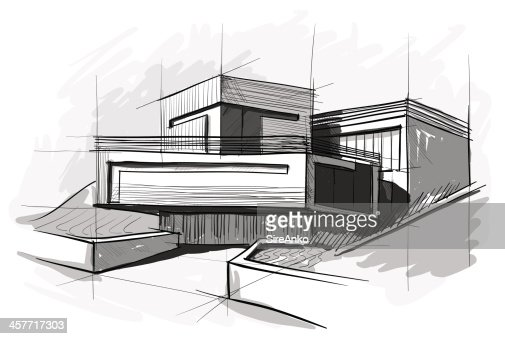 Architecture vector art getty images for Online architecture drawing