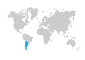 The map of Argentina is highlighted in blue on the world map