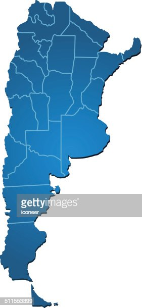 Blue Argentina Map Icon Vector Art Getty Images - Argentina map vector free