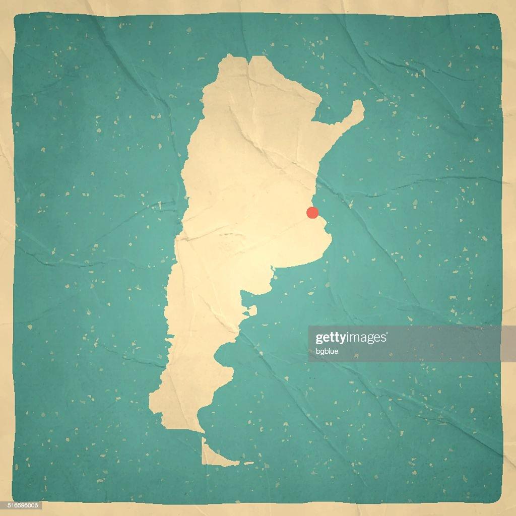 Argentina Map On Old Paper Vintage Texture Vector Art Getty Images - Argentina map vintage